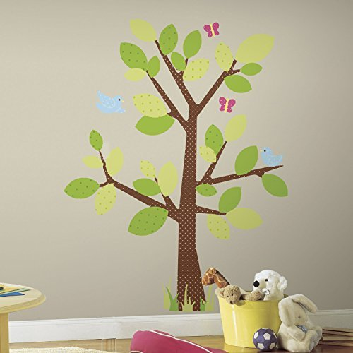 Tree Wall Decal for Children's Room - ROOMMATES RMK1554GM Kids Tree Peel & Stick Giant Wall Decal