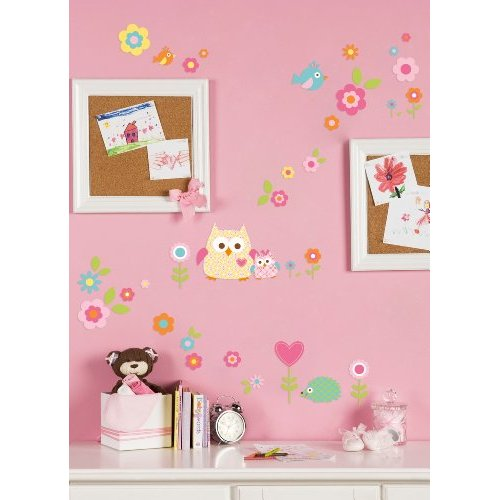 Tree Wall Decals - Kids Bedroom Line Dena Happi, Pink