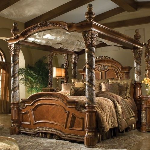 Villa Valencia Antique Four Poster Canopy Bed Bedroom Design