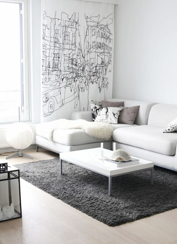 White paint colors for living rooms elegant style