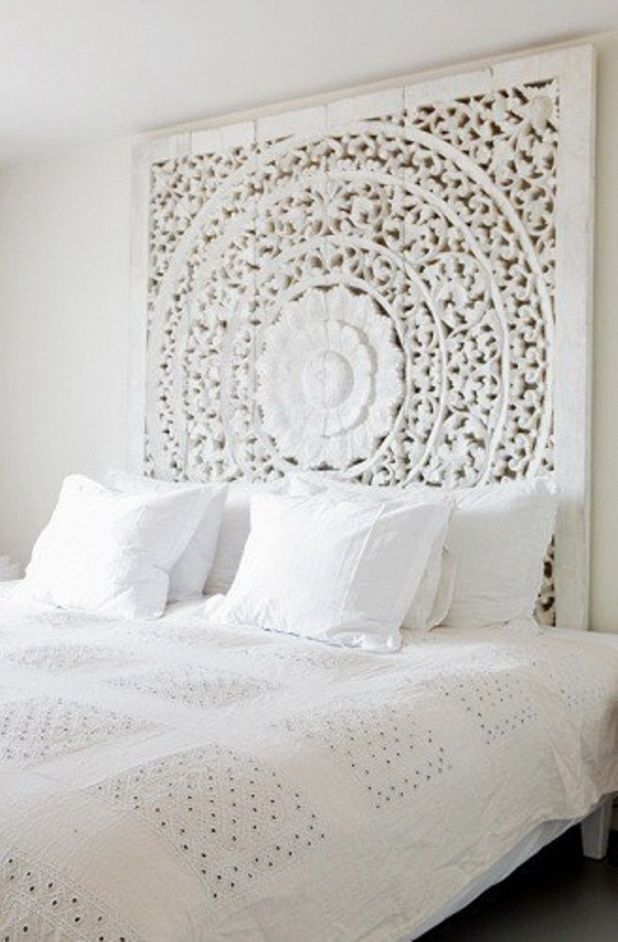 Wonderful White Bedroom Furniture with Great headboards