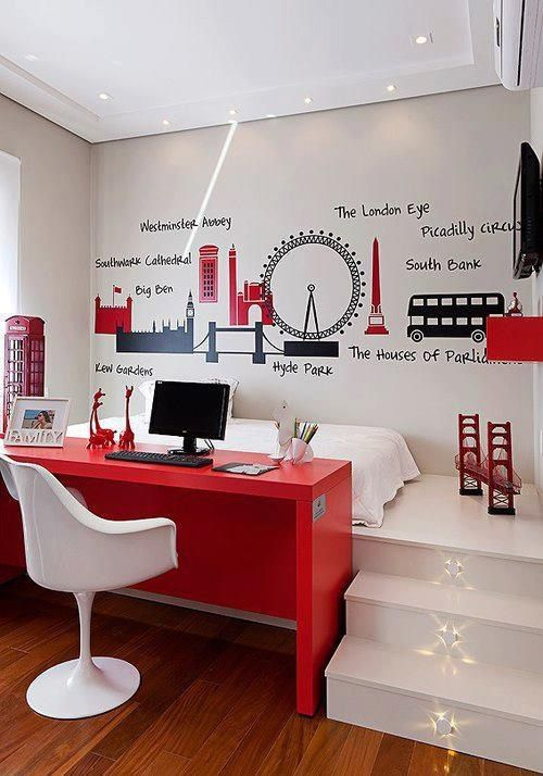 bedroom wall stickers building monumental or holiday