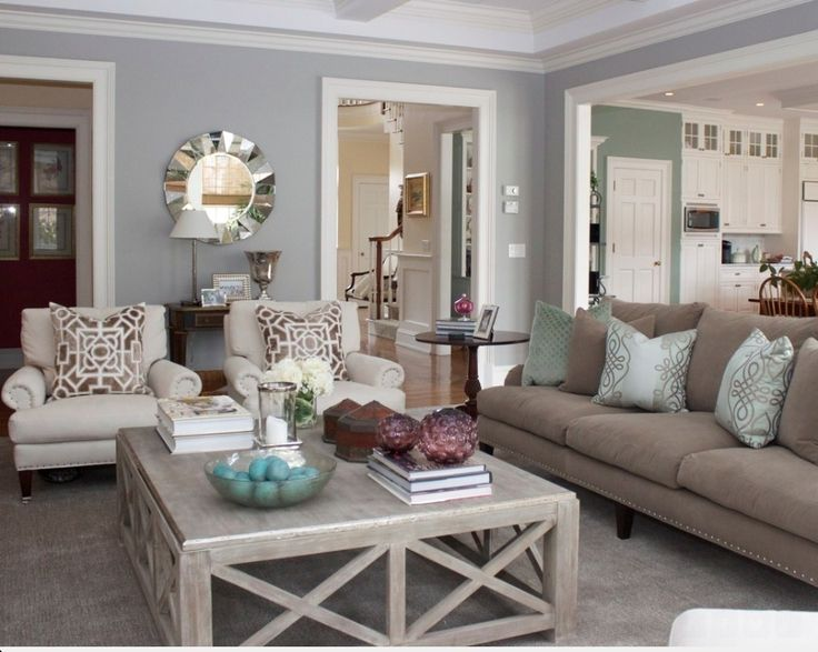 Tremendous Paint Colors For Living Rooms Pillows Cream And Blue Living Download Free Architecture Designs Rallybritishbridgeorg