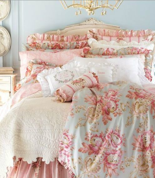 shabby chic bedroom decor idea pictures 01