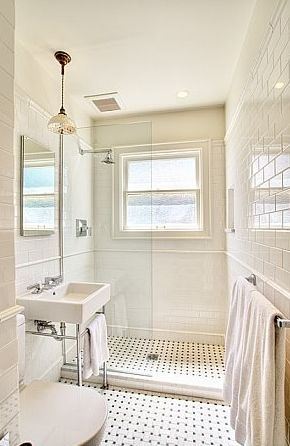small bathroom remodel subway tile classic bathroom design with modern white porcelain sink with polished nickel base