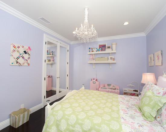 Traditional ceiling paint color teen girl rooms design - Light purple painted rooms ...