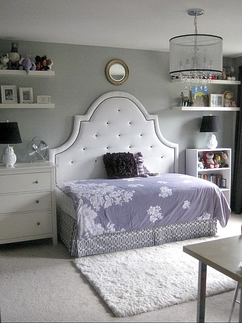 Beautiful Bedroom Decor Ideas With The Large Headboard Or Sideways Bed