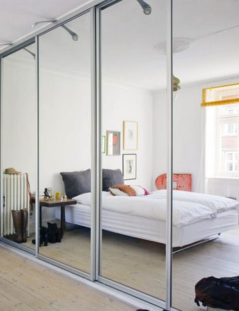 Mirror doors for built in wardrobe