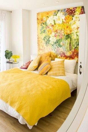 Cute Yellow Small Bedroom Decorating Ideas Create Unity, Use Different Shades Of The Same Color