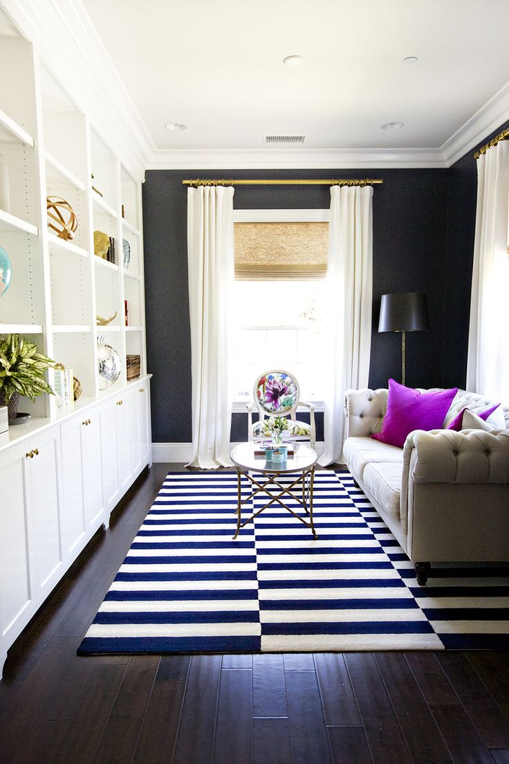 Dark Colors Make A Small Sitting Room Look Bigger