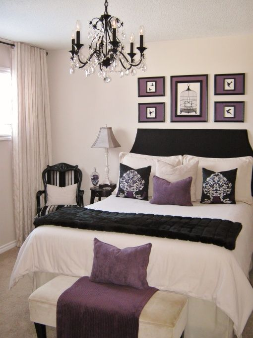 Decorating A Small Master Bedroom For Small Budget With Headboard And Painted The Lamps, Chandelier, And Shades