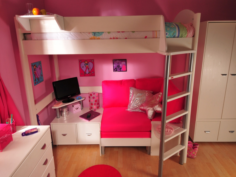 Double Bed For Teenagers High Sleeper Small Room