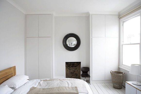 Elegant Built In Wardrobes Designs Whilst Keeping Chimney Breast