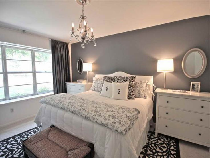 Grey Designer Master Bedrooms With Two Small Dressers As Night Table Ideas