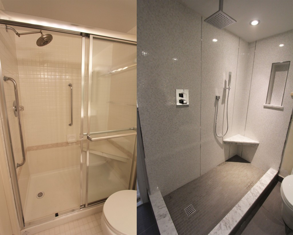 Inspiring Remodeling Master Bathroom On A Budget Before And After With Nice Wall Decoration Pictures 08