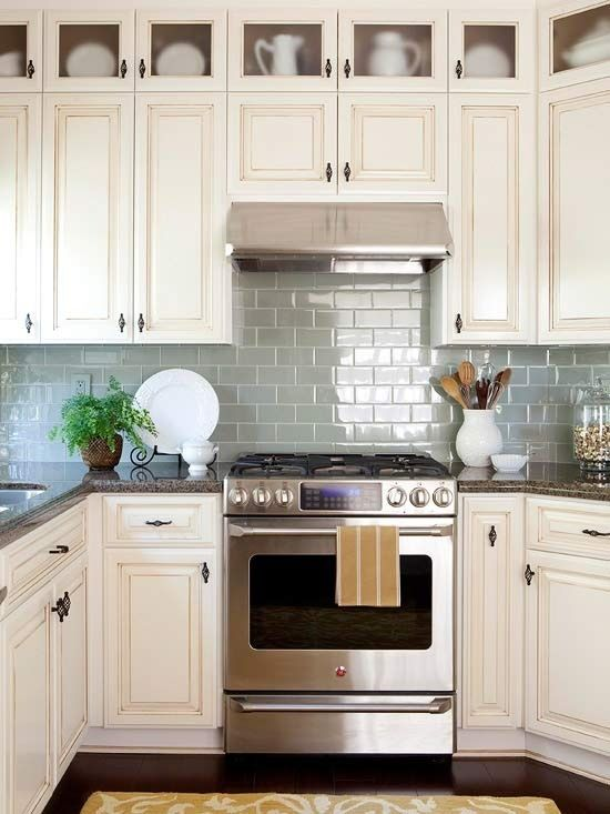 Kitchen Remodel Ideas Small Spaces Try Adding Glass Shimmering Tiles To Open The Space Up