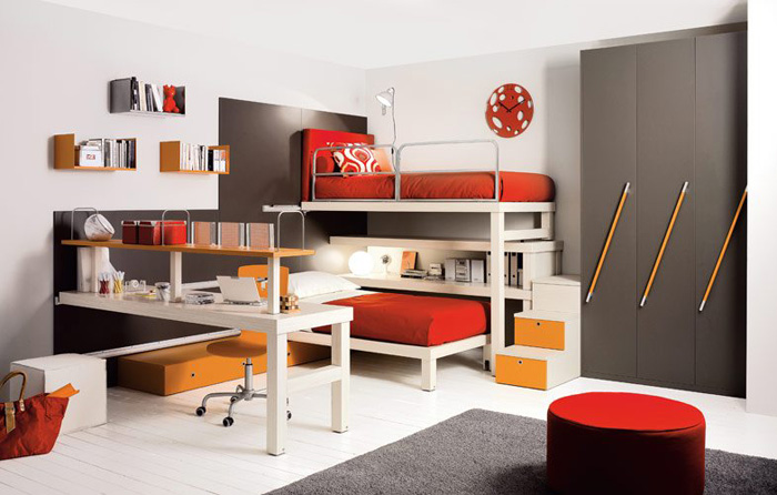 Loft Beds With Double Bed For Teenagers