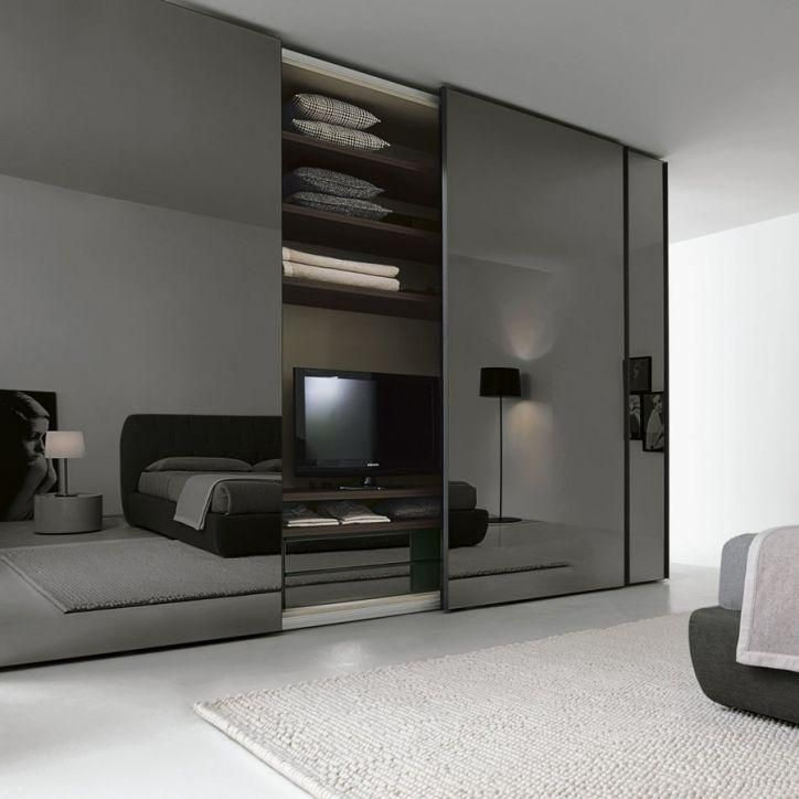 Sliding Mirror Wardrobe Doors Smoky Glass