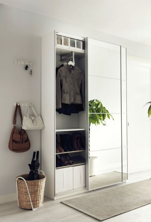Sliding Mirror Wardrobe For Saving Space In A Smal Bedroom