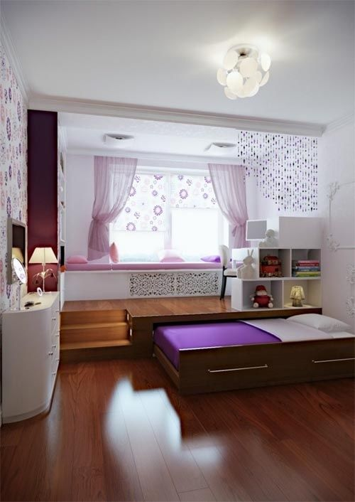 Small Bedroom Decorating Ideas Withthe Bed In The Box For Saving Space