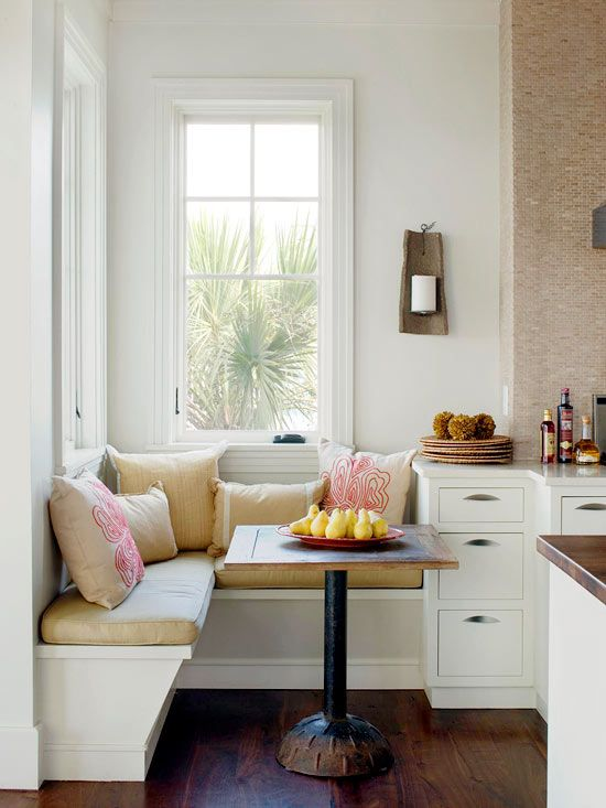Small Kitchen Remodel Ideas A Corner Banquette Provides Cozy Seating Without Taking Up Very Much Space