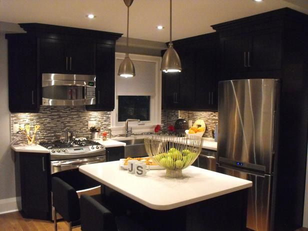 Small Kitchen Remodel Ideas Added Floor To Ceiling Cabinets