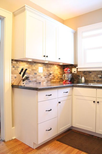 Small Kitchen Remodel Ideas With Slate Tile Backsplash