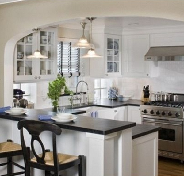 Small Kitchen Remodeling Ideas On A Budget Like The Arch To Provide Some Separation Don't Want A Complete Open Floor Plan