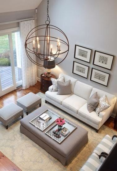 Small Sitting Room Ideas Arrangement With Chandelier