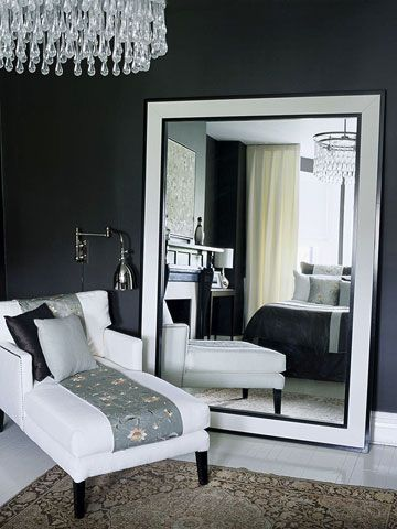 Small Sitting Room Ideas In The Bedroom With The Dark Gray Walls