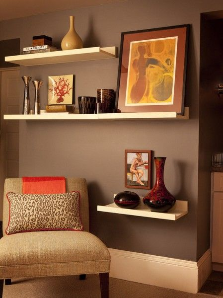 Sitting rooms small room decorating ideas for Shelves for living room decorations
