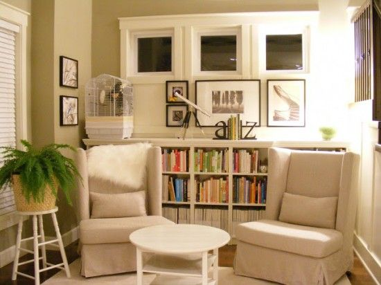 Small Sitting Room Ideas With Bookshelves