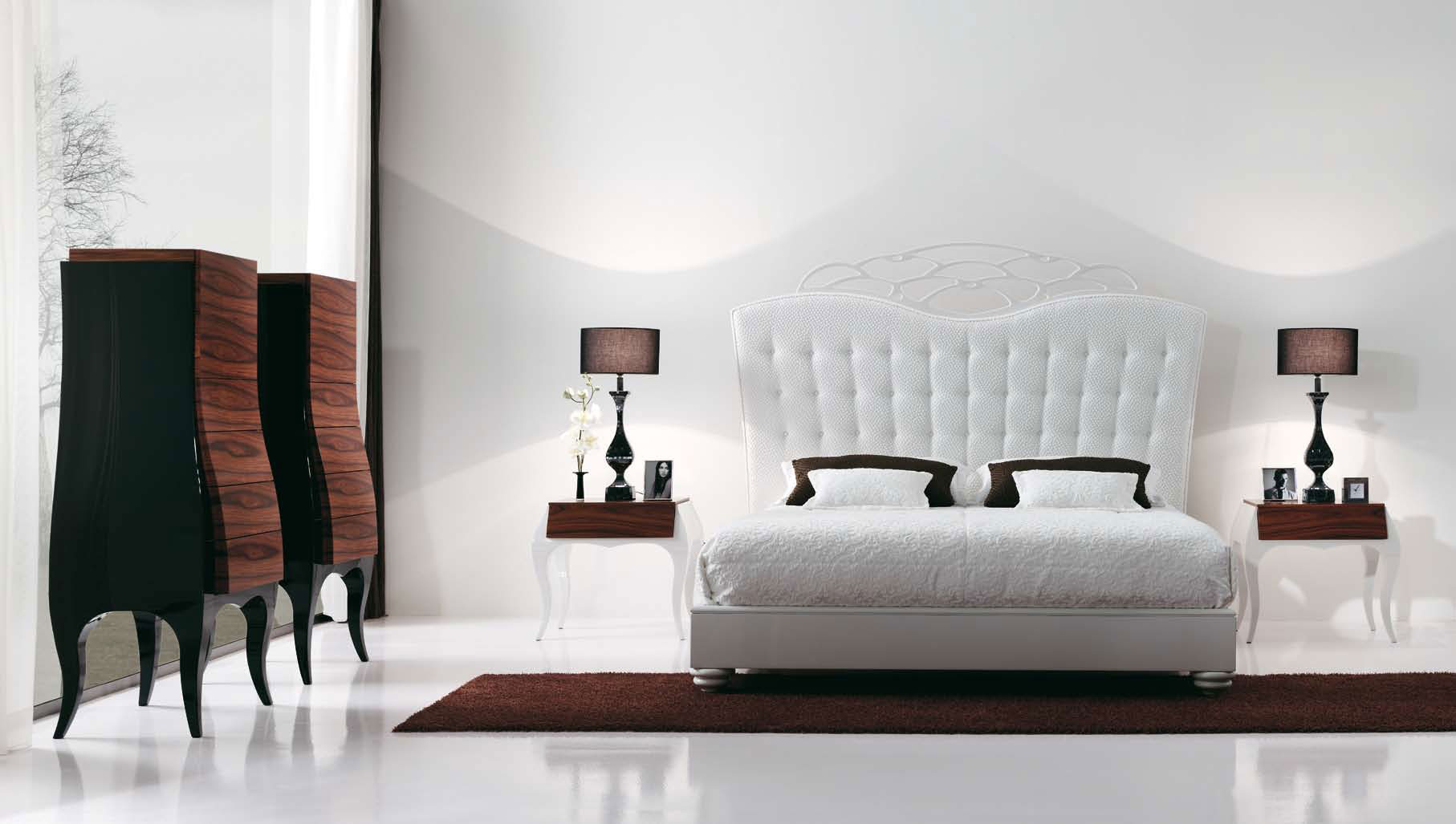 Contemporary White Bedroom Furniture Sets Minimalist Design
