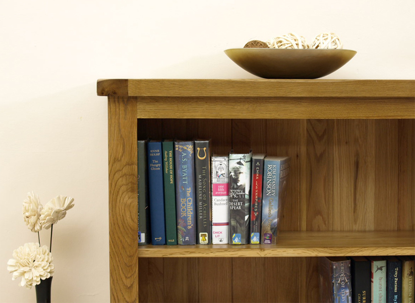 Cotswold solid oak rustic bookcase