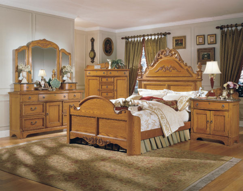 Country Style Bedroom Oak Furniture