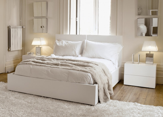 Cozy Small White Bedroom Furniture Design