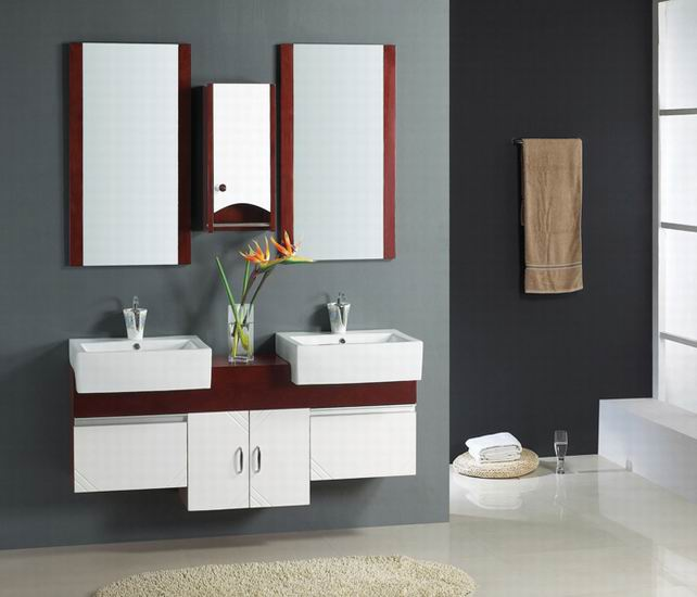 Elegant Small Double Sink Bathroom Vanity Cabinets
