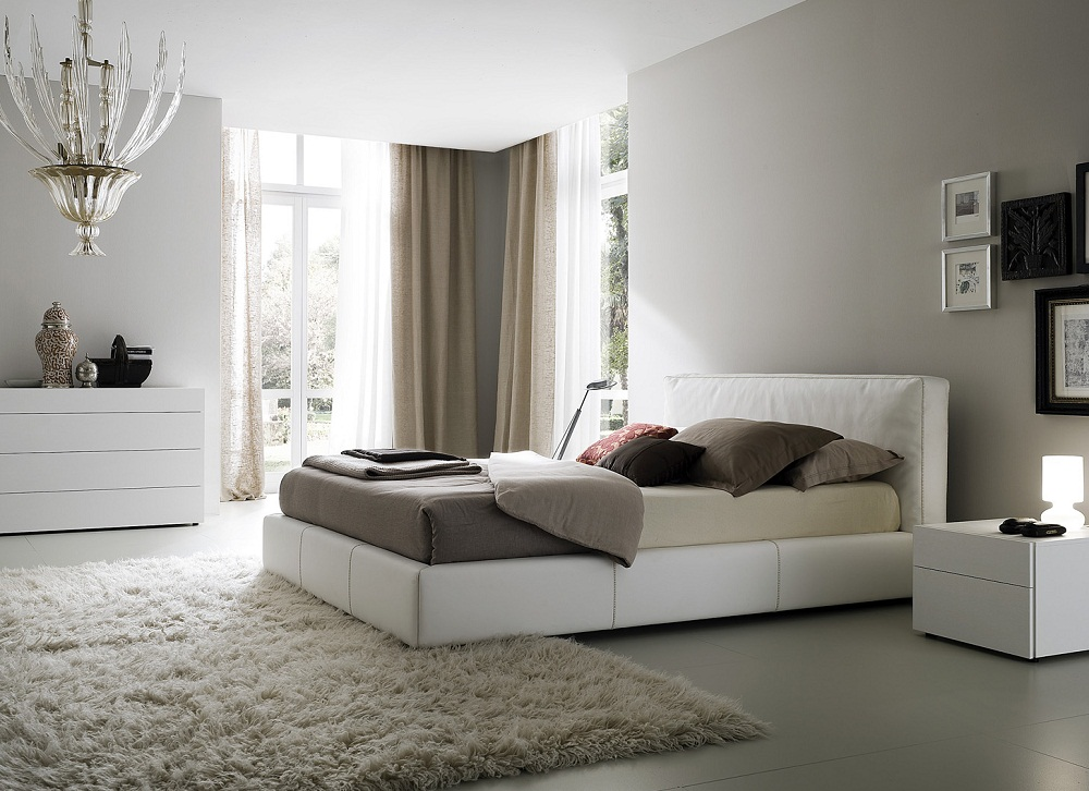 Modern white bedroom furniture set images