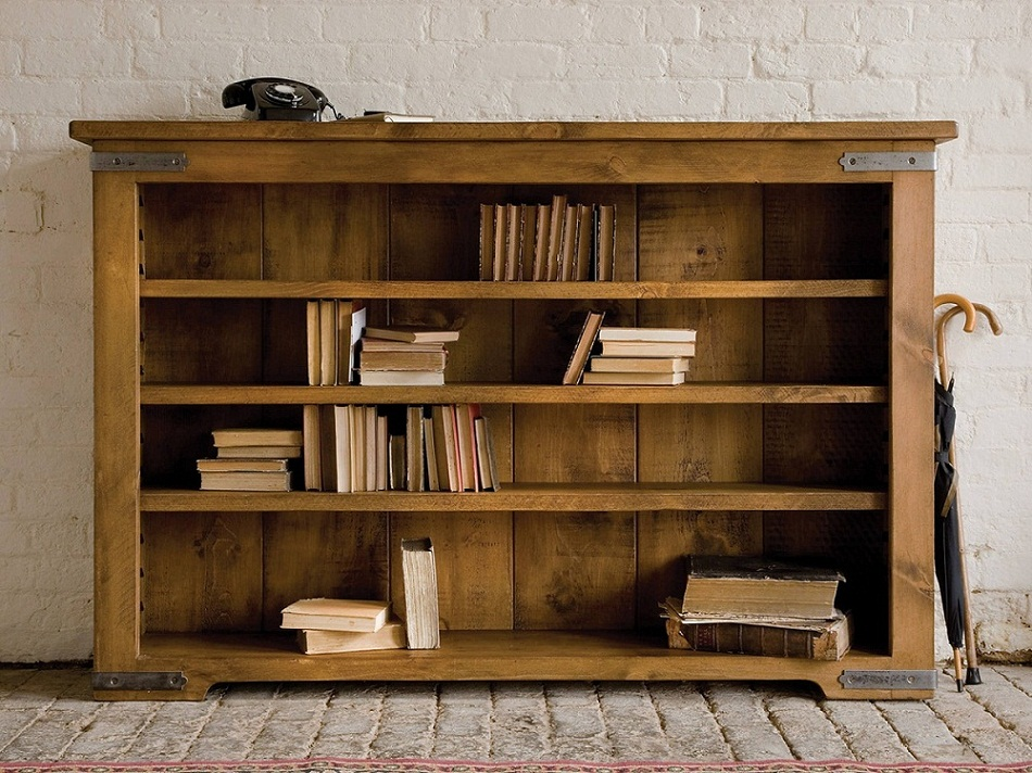 Oak Bookcase Low Plank