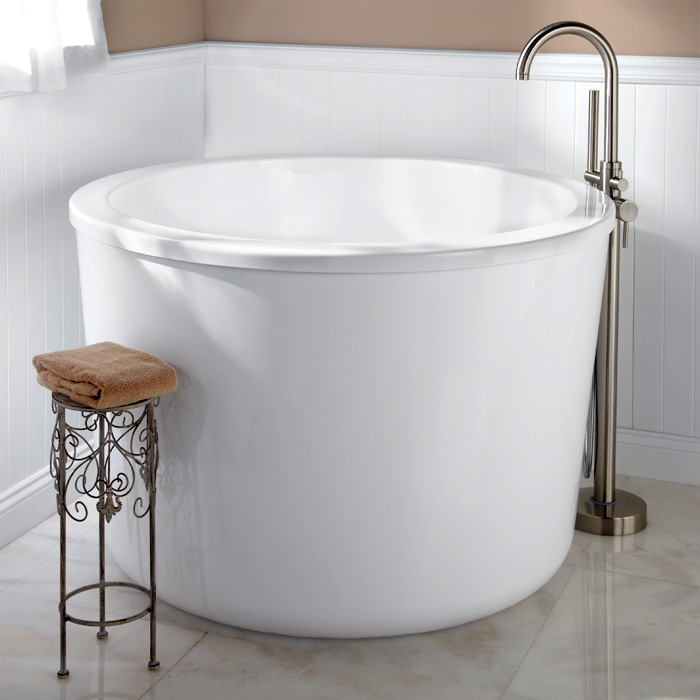 Round Small Soaker Tub Ideas Bathroom Style