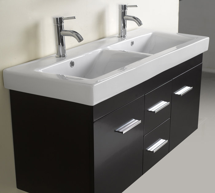 Small Opal Double Bath Vanity With Integrated Sink