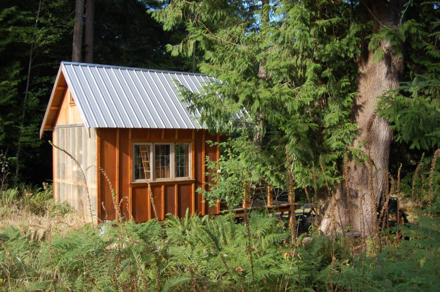 Small Rustic Cabin Plans Gambier Island Cabin Exterior