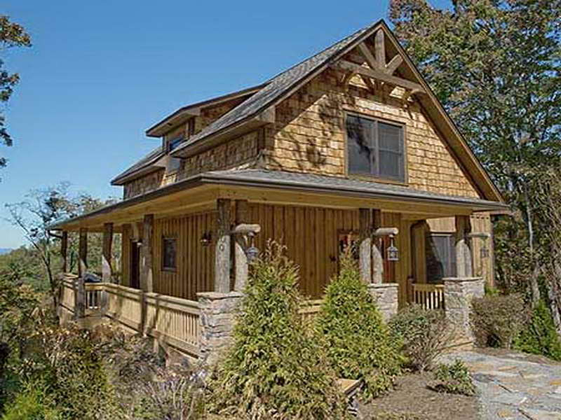 Small Rustic House Plans With Wooden Material