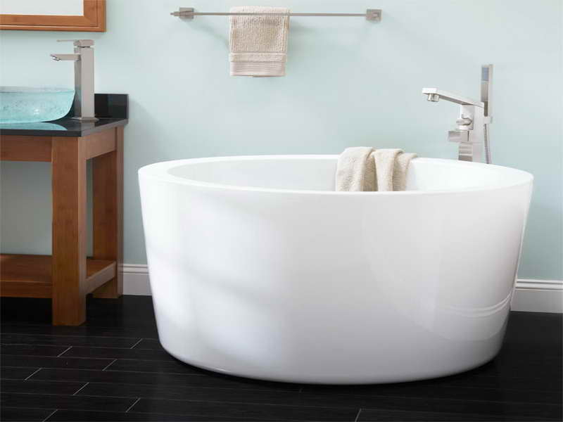 Small Soaker Tub Singlo Round Japanese