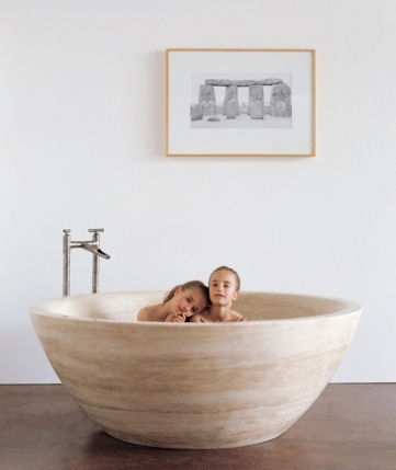 Stone Small Soaker Tub Unique Design