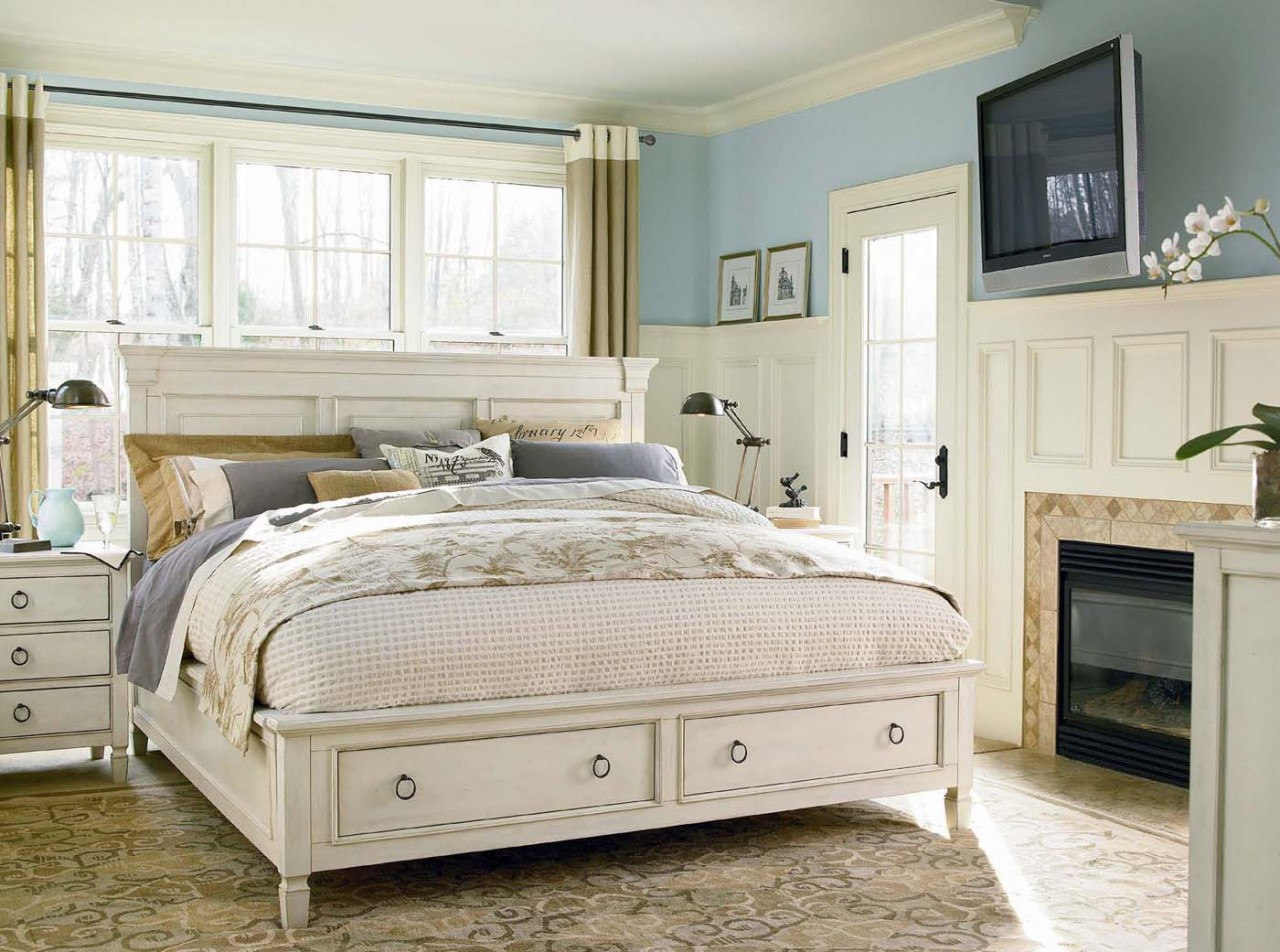 White Bedroom Furniture Sets With Storage Ideas