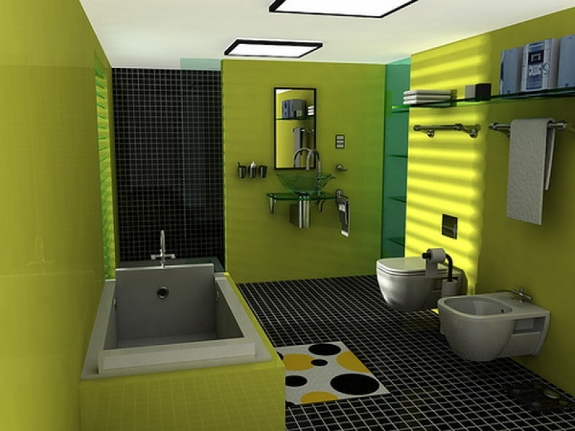 Amazing Small Bathroom Paint Color Ideas Regarding Green Bathroom Paint Color Design Pics