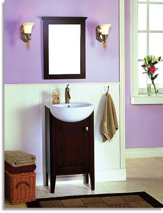 Brilliant Small Powder Room Vanities With Fresh Wall Colors