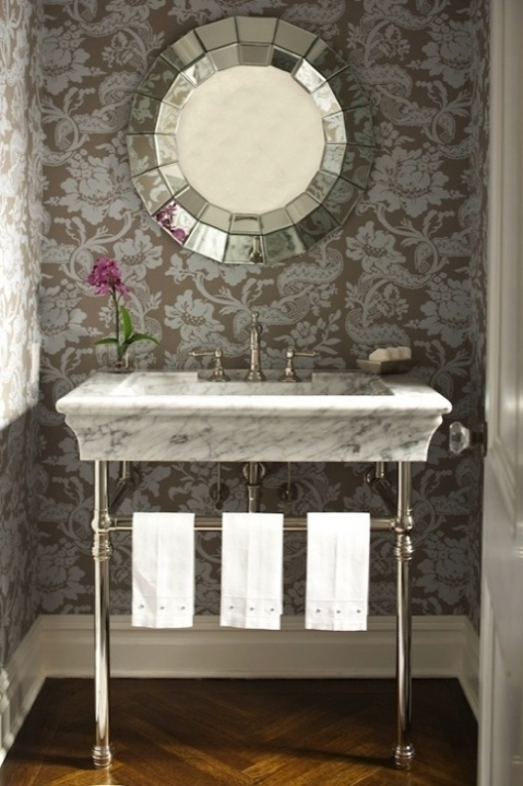 Comfy Small Powder Room Vanities Marble Top Bathroom Vanity Contemporary Design