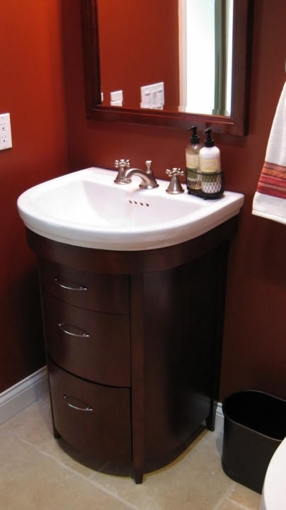 Outstanding small powder room vanities small sinks home for Powder room vanities for small spaces